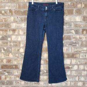 Elle mid rise bootcut dark wash jean size 12